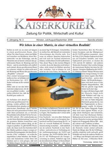 Zeitung für Politik, Wirtschaft und Kultur Wir ... - beim Kaiserkurier