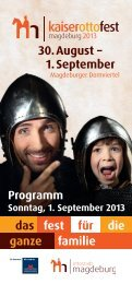 Programm Sonntag - Kaiser-Otto-Fest Magdeburg