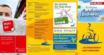 """Flyer zur Veranstaltung """"Autofreies Lautertal"""" - Energieagentur ..."""