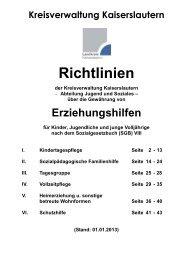 Richtlinien Erziehungshilfen_2013 - Landkreis Kaiserslautern