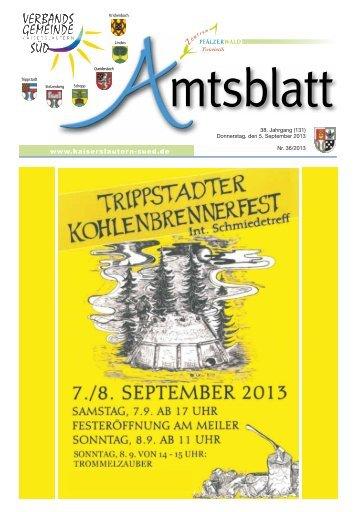 Ausgabe Nr. 36 vom 05.09.2013 - Verbandsgemeinde ...