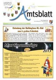 Ausgabe Nr. 45 vom 07.11.2013 - Verbandsgemeinde ...
