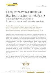 Bad Ischl_PA Frequenzzahlen_25082010 - Stadtmanagement Bad ...