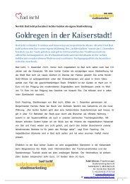PI Stadtwährung Ischler Gulden - Stadtmanagement Bad Ischl