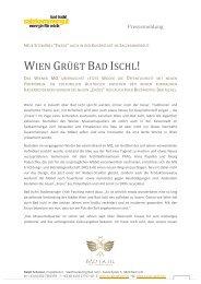 Wien grüßt Bad Ischl - Stadtmanagement Bad Ischl