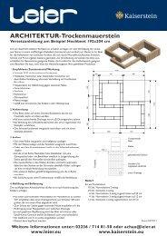 Architektur Trockenmauerstein Versetzanleitung Beilage ... - Leier