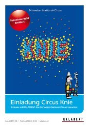 Einladung Circus Knie - KALADENT AG