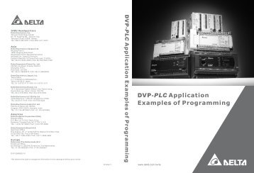 dvp plc application examples of programming delta electronics rh yumpu com plc Products Made in Germany Uses of plc Application