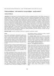 Nauja paradigma – seni metodai ar sena paradigma ... - Kalbų studijos