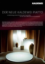 Planungshilfe PIATTO - Kaldewei