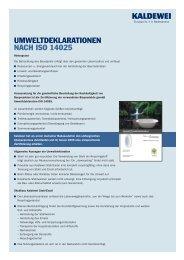 Zertifizierung nachhaltiges Bauen (pdf-Datei, 85 kB) - Kaldewei