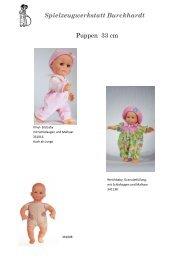 Spielzeugwerkstatt Burckhardt Puppen 33 cm - Burckhardt.de