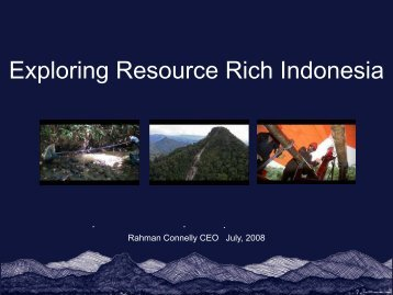 Exploring Resource Rich Indonesia - Kalimantan Gold Corporation ...