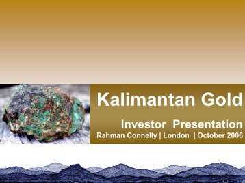 Kalimantan Gold Corporation Limited