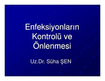 Enfeksiyonların Kontrolü ve Önlenmesi / Süha Şen - Sağlık Bakanlığı