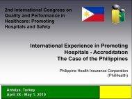 International Experience in Promoting Hospitals - Accredıtatıon The ...