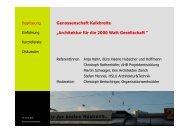 """Genossenschaft Kalkbreite """"Architektur für die 2000 Watt Gesellschaft """""""