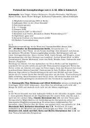 Protokoll der Konzeptionstage vom 3.-5. 02. 2006 in ... - Kalkspatz