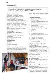 Protokoll der Mitgliederversammlung 2004 - Kalkspatz