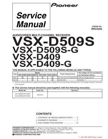 Vsx d638 g a f input assy vsx d509s g vsx d409 vsx d409 g fandeluxe Gallery