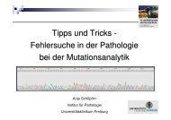 Fehlersuche in der Pathologie bei der Mutationsanalytik