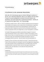 Personalmeldung Frischfleisch in der antwerpes ... - DocCheck AG