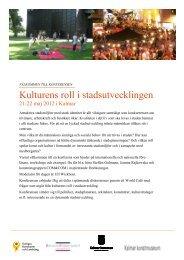 3. Kulturens roll i stadsutvecklingen Pdf 331 kB - Kalmar kommun