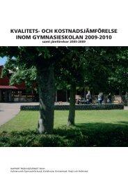 kvalitets- och kostnadsjämförelse inom ... - Kalmar kommun