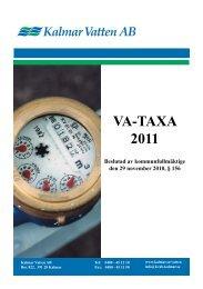 VA-taxa 2011 (Pdf, 200 kB) - Kalmar kommun