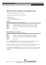 Maxtaxa för förskola, fritidshem och pedagogisk ... - Kalmar kommun