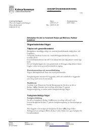 Organisatoriska frågor - Kalmar kommun