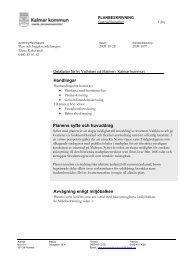 Planens syfte och huvuddrag Handlingar ... - Kalmar kommun