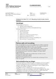 Planbeskrivning - Kalmar kommun