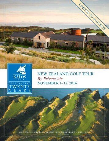 new Zealand golf tour By Private Air - Kalos Golf