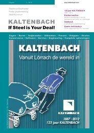 PDF: Uitgave 1-2012 - Hans Kaltenbach Maschinenfabrik GmbH + ...
