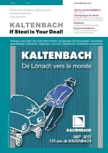 PDF: Edition 1/2012 - Hans Kaltenbach Maschinenfabrik GmbH + ...