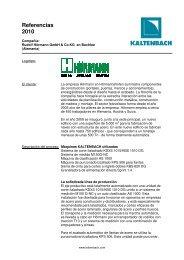 Leer más - Hans Kaltenbach Maschinenfabrik GmbH + Co. KG