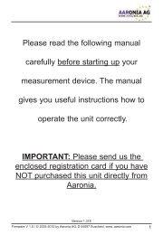 Spectran User Manual - Kaltman Creations LLC