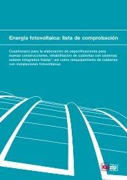 Energía fotovoltaica: lista de comprobación - Kalzip