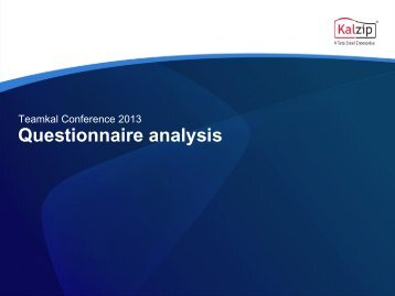 Teamkal Conference 2013 questionnaire analysis.pdf - Kalzip