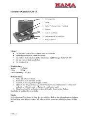 G06-15 Instruktion Gasolkök.pdf - KAMA Fritid