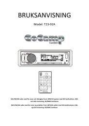T23-92A Bruksanvisning.pdf - KAMA Fritid