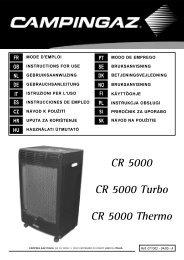 CR 5000 CR 5000 Turbo CR 5000 Thermo - KAMA Fritid