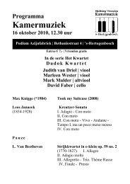 Zaterdag 16 oktober 2010 - Kamermuziek