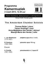 2 maart 2013AL the amsterdam chamber solists - Kamermuziek
