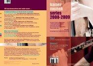 Download folder series 2008-2009 - Kamermuziek