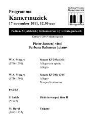 Donderdag 17 november 2010 - Kamermuziek