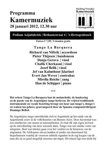 Zaterdag 28 januari 2012 - Kamermuziek