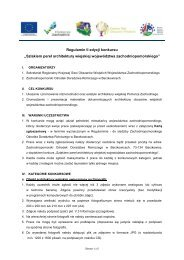 Regulamin - Konkurs pt. Szlakiem perel architektury ... - KSOW