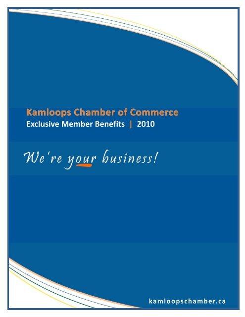 Membership Benefits 2010 - Kamloops Chamber of Commerce